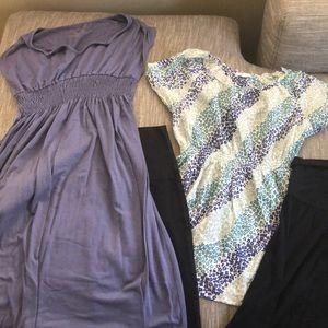 MATERNITY clothes: 2 shirts, 1 dress, 1 blouse